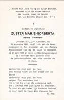 Zuster, Soeur,  Bertha Tielemans, Lombeek, - Religion & Esotericism