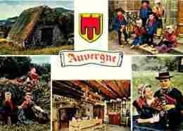 Folklore - Costumes - Auvergne - Multivues - Buron - Voir Scans Recto-Verso - Costumes