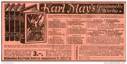 Original-Werbung/Inserat/ Anzeige 1928 -  KARL MAY'S GESAMMELTE WERKE / BIAL & FREUND BRESLAU - Ca. 90  X 180 - Werbung