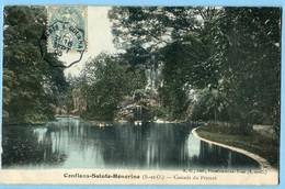 CPA 78 CONFLANS-SAINTE-HONORINE Cascade Du Prieuré - Colorisée - Conflans Saint Honorine