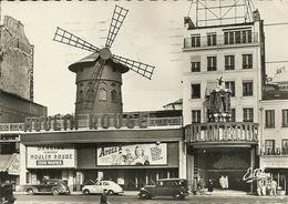 Paris (Parigi, Francia) Le Moulin Rouge, Auto D'Epoca, Voitures Anciennes, Vintage Cars - Paris La Nuit