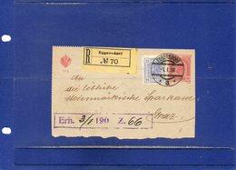 ##(DAN196)- Austria 1908-Front Of A Registered Lettersheet From Eggersdorf To Graz - Briefe U. Dokumente