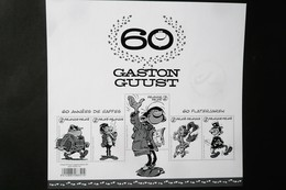 GCA22-BL246  2017  Feuillet Noir Et Blanc - Gaston Lagaffe A 60 Ans - Belgique