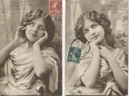 CPA - FANTAISIE - FEMME - Rêveuse - Lot De 2 Vues - Edition I.R.N. - Women