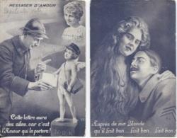 CPA - FANTAISIE PATRIOTIQUE - Scènes Vie Amoureuse Du Militaire - Lot De 2 Vues - Edition S.I.D. - Fantaisies