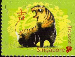 Singapore - 2010 - Year Of The Tiger - Mint Self-adhesive Stamp - Singapur (1959-...)