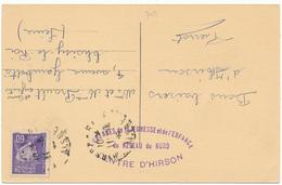 D02 - HIRSON - Cachet Sur CP, Auberges De La Jeunesse Et De L'Enfance - WW2 - Hirson