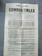 L' Après Guerre 40/45 Affiche Rationnement En Matière De Combustible / 1948 / RARE - Affiches