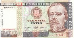 PERU 100000 INTS 1989 P-145 UNC */* - Peru