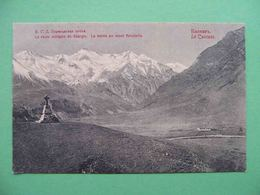 Caucasus, Cross Pass 1910th Monument, Cross. Russian Postcard. Russia - Russie