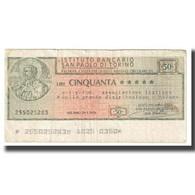 Billet, Italie, 50 Lire, TB - Italie