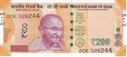 BILLETE DE LA INDIA DE 200 RUPEES DEL AÑO 2017 EN CALIDAD EBC (XF)   (BANKNOTE) GHANDI - India