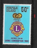 NORFOLK IS.  1980 Lions International District Congress ** - Norfolk Island