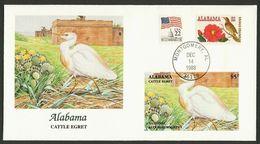 Audubon Society - ALABAMA - Cattle Egret, Fleetwood  1988 - Storchenvögel