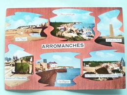 V10-14-calvados-arromanches --vue Generale-plage-n.d.des Flots-canons Peniche-digue-musee- - Arromanches