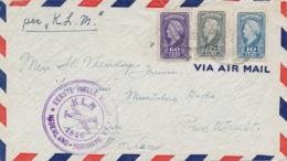 Suriname - 1946 - Tricolore Frankering Op LP-cover Eerste Snelle Vlucht Van Paramaribo Naar Muntsteeg / Nederland - Suriname ... - 1975