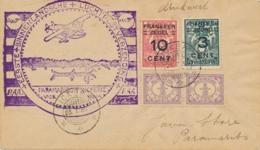 Suriname - 1930 - 4 Zegels Op 1e Binnenlandse Vlucht Door PAA Van KB NICKERIE Naar KB Paramaribo - Suriname ... - 1975