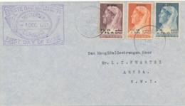 Curacao - 1947 - NIWIN-serie 1st Day Op Cover Lokaal Aruba - Curaçao, Nederlandse Antillen, Aruba