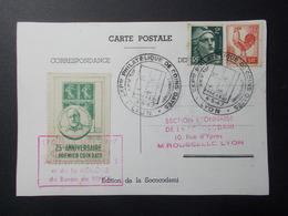 Marcophilie  Cachet Lettre Obliteration - 25 ème Anniversaire Du 1er Coin Daté - 1947 (2406) - Postmark Collection (Covers)