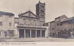 Roma Facciatadella Chiesa S Cecilia - Italia