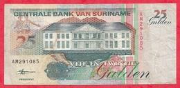 Surinam 1 Billet De  25 Gulden Du 10/02/1998 Dans L 'état Lot N °10 - Surinam