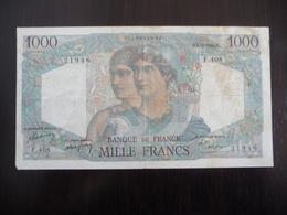 FRANCE *   MINERVE ET HERCULE -  1000  Francs   M 5.5.1948 - 1871-1952 Circulated During XXth