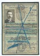 CARTE D'ABONNEMENT DU CHEMIN DE FER DE L'ETAT - LES INVALIDES A VERSAILLES - TRAIN - 2ème Classe 1925-12 - Titres De Transport