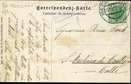 44790 Austria, Postcard  Circuled 1907 From Mezzolombardo (trento) To San Martino Castrozza  Cartolina Di Mollaro Val Di - Covers & Documents