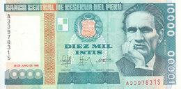 PERU 10000 INTS 1988 P-140 UNC */* - Peru