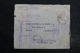 """BRESIL - Griffe """" Courrier Accidenté Au Brésil Le 3 Novembre 1935 """" Sur Enveloppe D 'Argentine Pour Paris - L 28484 - Briefe U. Dokumente"""