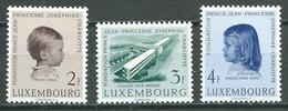Luxembourg YT N°528/530 Clinique Pour Enfants Neuf ** - Ungebraucht