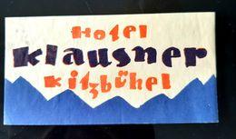 HOTEL KLAUSNER KITZBUHEL AUTRICHE AUSTRIA ÖSTERREICH ETIQUETTE LUGGAGE LABEL ETICHETTA ETIQUETA ETIKETT - Hotel Labels