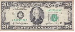 BILLETE DE ESTADOS UNIDOS DE 20 DOLLARS DEL AÑO 1988 (BANK NOTE) - Billetes De La Reserva Federal (1928-...)