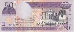 BILLETE DE REP. DOMINICANA DE 50 PESOS ORO DEL AÑO 2004 SERIE DU EN CALIDAD EBC (XF) (BANKNOTE) - República Dominicana