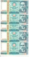 PERU 10000 INTS 1988 P-140 LOT X5 UNC NOTES */* - Peru