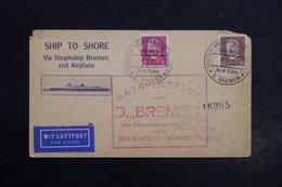ALLEMAGNE - Carte Par Avion Catapulté Du Bremen En 1929 Pour Friedrichshafen , Oblitération De New York - L 28486 - Storia Postale