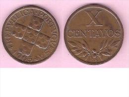 Portugal 10 Centavos  1965  Km 583  Xf+ - Portugal