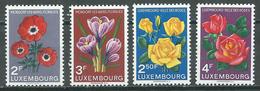 Luxembourg YT N°506/507 Et 508/509 Floralies De Mondorf - Luxembourg Ville Des Roses Neuf ** - Neufs