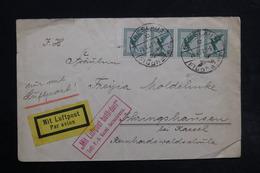 ALLEMAGNE - Enveloppe De Breslau Pour Kassel En 1927 Par Avion, Affranchissement Plaisant - L 28488 - Storia Postale