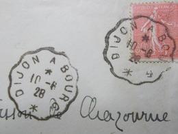 Marcophilie  Cachet Lettre Obliteration - Convoyeur Dijon à Bourg - 1928 (2411) - Postmark Collection (Covers)