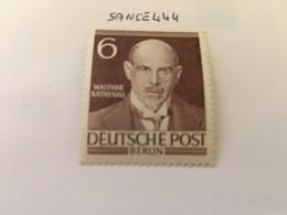 Berlin Famous W. Rathenau Banker 1952 Mnh - [5] Berlin
