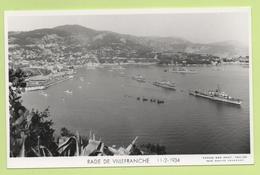 RADE DE VILLEFRANCHE 11-2-1934 / Photo Marius Bar, Toulon / Marine - Bateaux - Guerre - Militaire - Ships