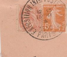 CACHET EXPOSITION INTERNATIONALE POSTE AERIENNE PARIS 1930 SUR FRAGMENT - Marcofilia (Sellos Separados)
