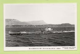 MARSOUIN Sous-marin 1928 / Photo Marius Bar, Toulon / Marine - Bateaux - Guerre - Militaire - Sous-marins