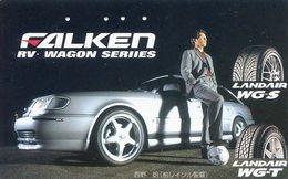 FALKEN - EQUIPEMENTIER PNEUMATIQUE - TELECARTE JAPON  - VOITURE - AUTOMOBILE - CAR - Auto's