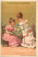 - Chromos -ref-ch694- Chocolat Masson - Paris - Mode En 1848 - Fond Doré - - Chocolat