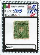 EUROPE#ITALY COLONIAL EMPIRE#CLASSIC#1900>#(ITC-290C-1 (64) - Eritrea