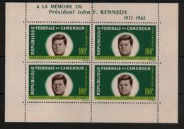 Cameroun - 1964 - Bloc Feuillet BF N°Yv. 3 - Kennedy / JFK - Neuf Luxe ** / MNH / Postfrisch - Kennedy (John F.)