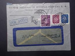 Marcophilie  Cachet Lettre Obliteration - PORTUGAL Taxe 20 Francs Au Dos - 1949 (2415) - Lettres & Documents