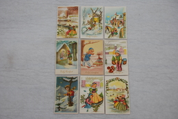KERSTFEEST (Noël) - Kinderen / Enfants - Een Geheel Van 9 Kaarten / Ensemble De 9 Cartes - Année '60 - Noël